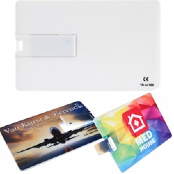 Plastikowy pendrive karta (0524)