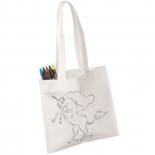 Non-Woven bag with crayons UNICORN